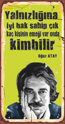 Oğuz Atay Ahşap Poster
