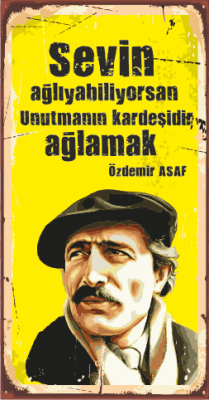 Özdemir Asaf Ahşap Poster