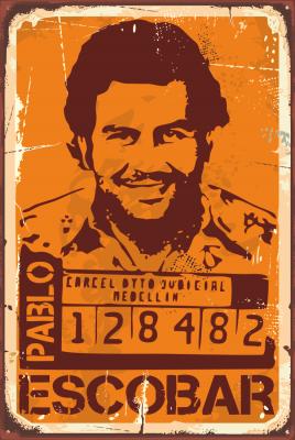 Pablo Escobar Ahşap Poster