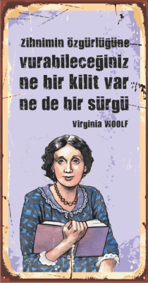 Virginia Woolf Ahşap Poster