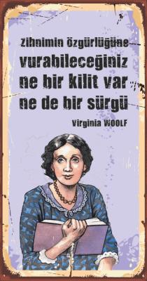 Virginia Woolf Ahşap Poster