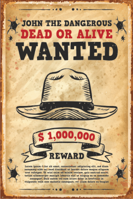 Wanted Ahşap Poster