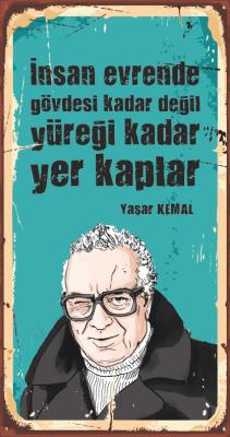 Yaşar Kemal Ahşap Poster