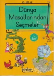 1. Sınıf Dünya Masallarından Seçmeler (Düz Yazı) 10 Kitaplık Set