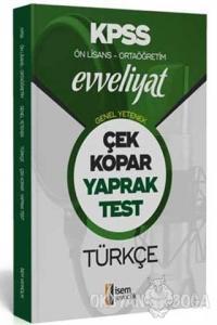 2020 Evveliyat KPSS Genel Yetenek Ortaöğretim Ön Lisans Türkçe Çek Kopar Yaprak Test