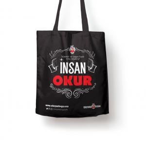 Okuyanboga.com Bez Çanta (İnsan Okur) Siyah
