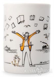 Kupa (Porselen) - Vapurlu Kedili Adam