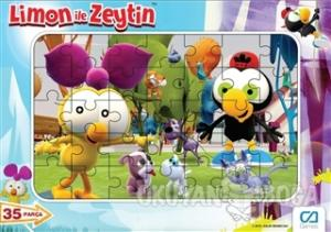 Limon ile Zeytin - Frame Puzzle 1 - Mavi (35 Parça)