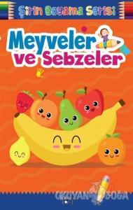 Şirin Boyama Serisi - Meyveler ve Sebzeler