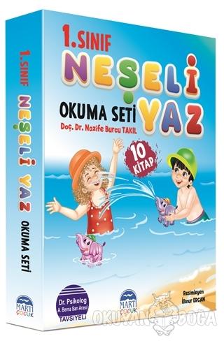 1. Sınıf Neşeli Yaz Okuma Seti (10 Kitap Takım) - Nazife Burcu Takıl -