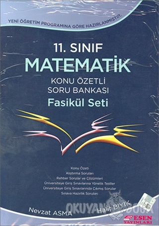 11. Sınıf Matematik Konu Özetli Soru Bankası Fasikül Seti