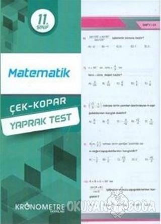 11.Sınıf Matematik Yaprak Test 2019