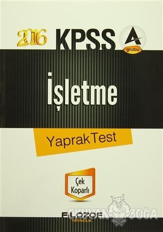 2016 KPSS A Grubu İşletme Yaprak Test - Kolektif - Filozof Yayıncılık