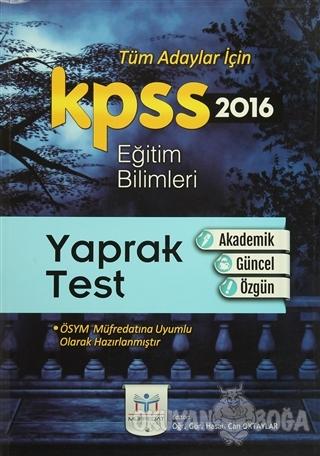 2016 KPSS Eğitim Bilimleri Yaprak Test - Kolektif - Müfredat Yayınları