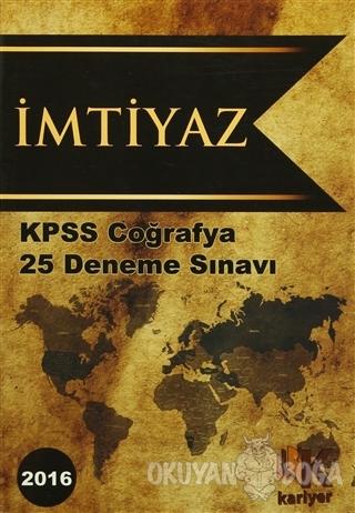 2016 KPSS İmtiyaz Coğrafya 25 Deneme Sınavı
