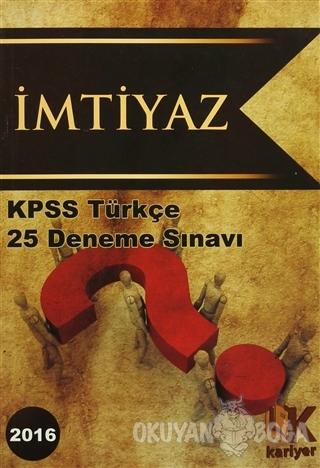 2016 KPSS Türkçe 25 Deneme Sınavı
