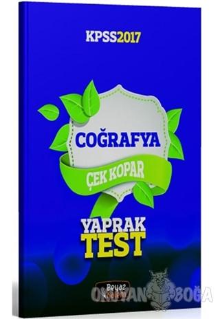 2017 KPSS Coğrafya Çek Kopar Yaprak Test - Kolektif - Beyaz Kalem Yayı