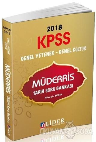2018 KPSS Genel Yetenek Genel Kültür Müderris Tarih Soru Bankası