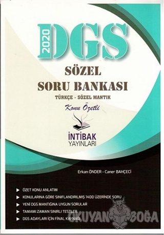 2020 DGS Sözel Konu Özetli Soru Bankası