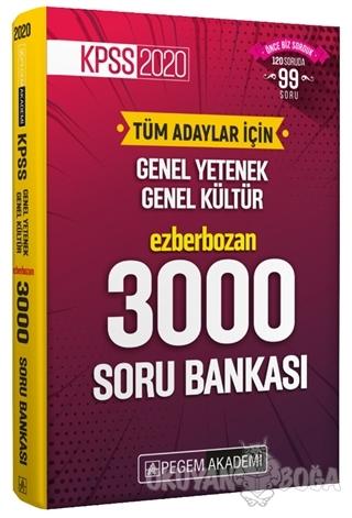 2020 KPSS Genel Yetenek Genel Kültür Ezberbozan 3000 Soru Bankası - Ko