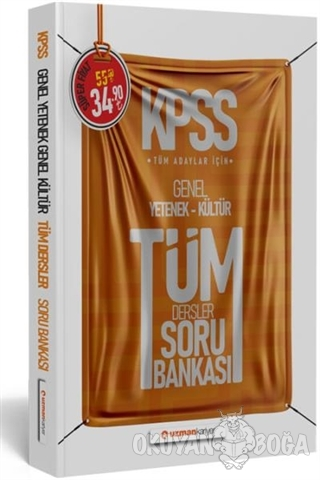 2020 KPSS Genel Yetenek - Kültür Tüm Dersler Soru Bankası