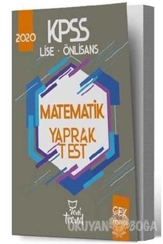 2020 KPSS Lise Önlisans Matematik Yaprak Test