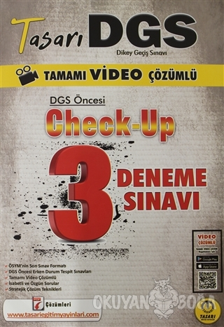 2021 Tasarı DGS Öncesi Check Up Video Çözümlü 3 Deneme - Kolektif - Ta