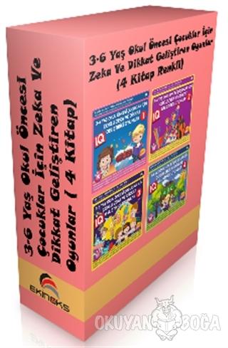 3 - 6 Yaş Okul Öncesi Çocuklar İçin Zeka ve Dikkat Geliştiren Oyunlar ( 4 Kitap Set)