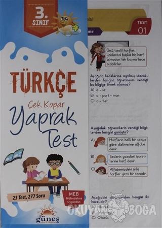 3. Sınıf Türkçe Çek Kopar Yaprak Test