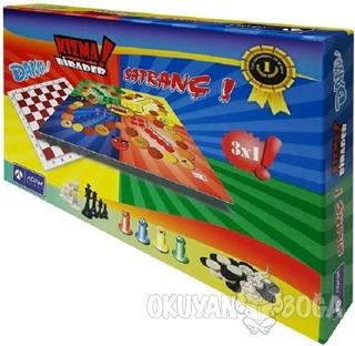 3'lü Oyun Seti / Dama - Kızma Birader - Satranç - - Adam Games