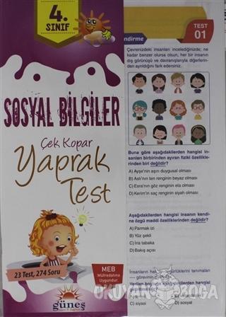 4. Sınıf Sosyal Bilgiler Çek Kopar Yaprak Test