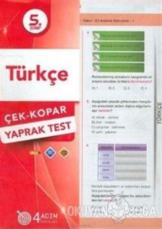 5.Sınıf Türkçe Yaprak Test 2019