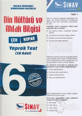 6. Sınıf Din Kültürü ve Ahlak Bilgisi Yaprak Test - Kolektif - Sınav Y