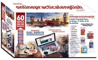 60 Derste Online İngilizce Öğrenim Seti (12 Kitap-17 Dvd-8 Cd) - Kolek