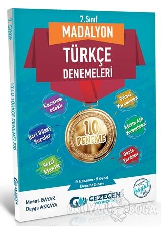 7. Sınıf Madalyon Türkçe Denemeleri 10 Deneme - Mesut Bayar - Gezegen