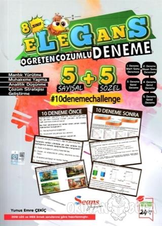8. Sınıf LGS Elegans Öğreten Çözümlü 10 Deneme