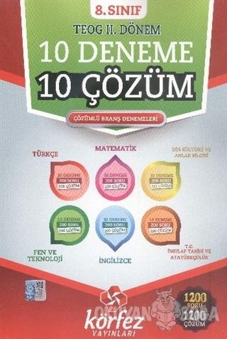 8. Sınıf TEOG 2. Dönem 10 Deneme 10 Çözüm - Kolektif - Körfez Yayınlar