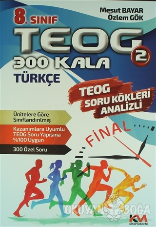 8. Sınıf TEOG 2 Türkçe Soru Bankası - Mesut Bayar - Kitap Madeni Yayın