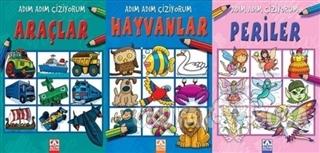 Adım Adım Çiziyorum (3 Kitap Set) - Kolektif - Altın Kitaplar - Çocuk