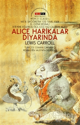 Alice Harikalar Diyarında (Nostalgic) - Lewis Carroll - Bordo Siyah Ya