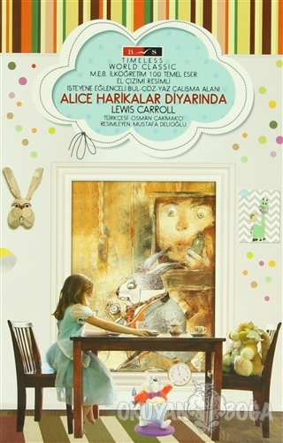 Alice Harikalar Diyarında (Timeless) - Lewis Carroll - Bordo Siyah Yay