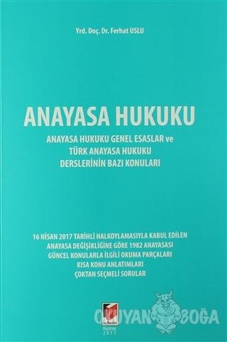 Anayasa Hukuku - Ferhat Uslu - Adalet Yayınevi - Ders Kitapları