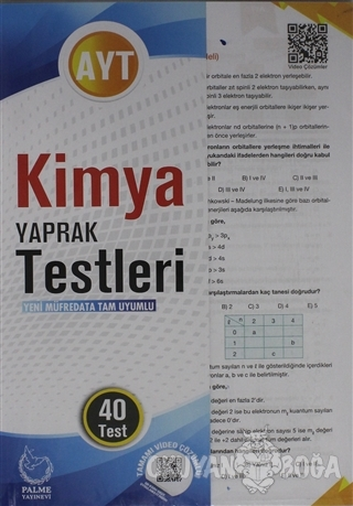 AYT Kimya Yaprak Testleri 40 Test - Kolektif - Palme Yayıncılık - Hazı