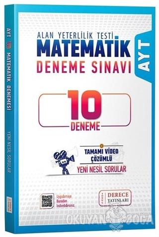 AYT Matematik 10 lu Deneme Video Çözümlü - Kolektif - Derece Yayınları