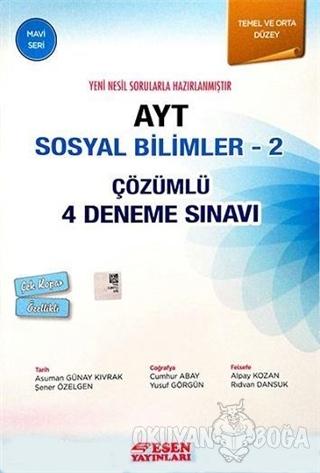 AYT Sosyal Bilimler - 2 Çözümlü 4 Deneme Sınavı - Mavi Seri