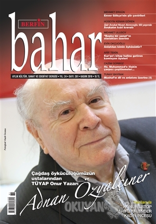 Berfin Bahar Aylık Kültür Sanat ve Edebiyat Dergisi Sayı: 261 Kasım 2019