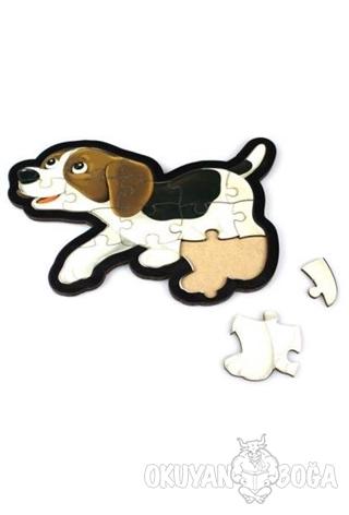 Beyaz Köpek Ahşap Puzzle 16 Parça - - Parıltı Yayınları - Hobi