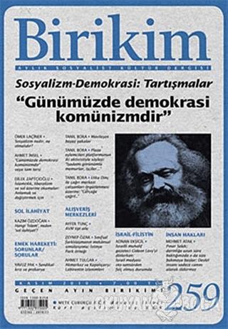 Birikim Aylık Edebiyat Kültür Dergisi Sayı: 259 - Kolektif - Birikim Y