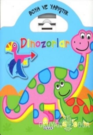 Boyama ve Yapıştır Dinozorlar (Mavi)