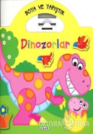 Boyama ve Yapıştır Dinozorlar (Sarı)